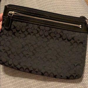 Black coach travel bag